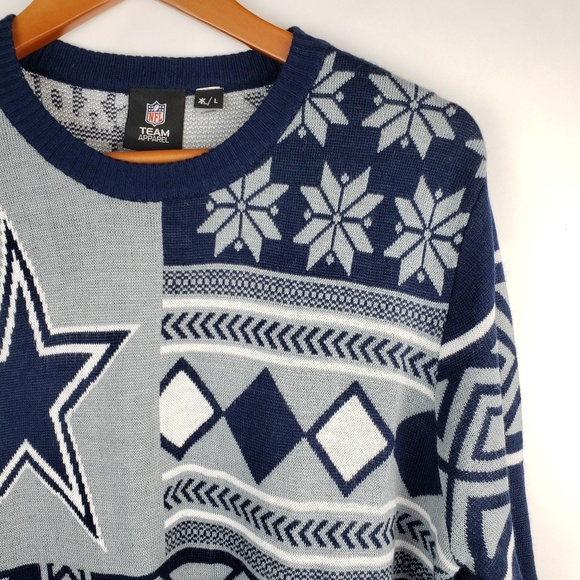 timeless design 0ba91 13819 Dallas Cowboys NFL Ugly Christmas sweater L